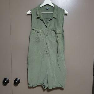 Green Shorts Romper